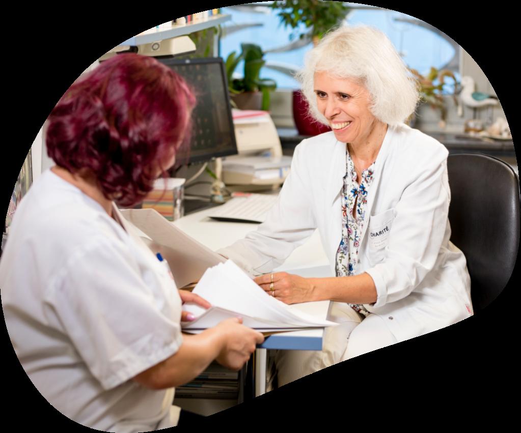 Besprechung mit Patienten