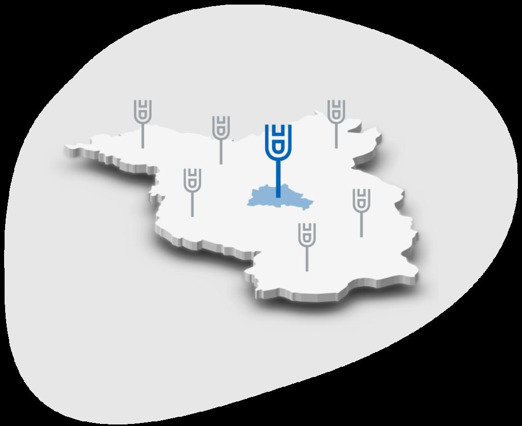 Hauptstadturologie Karte